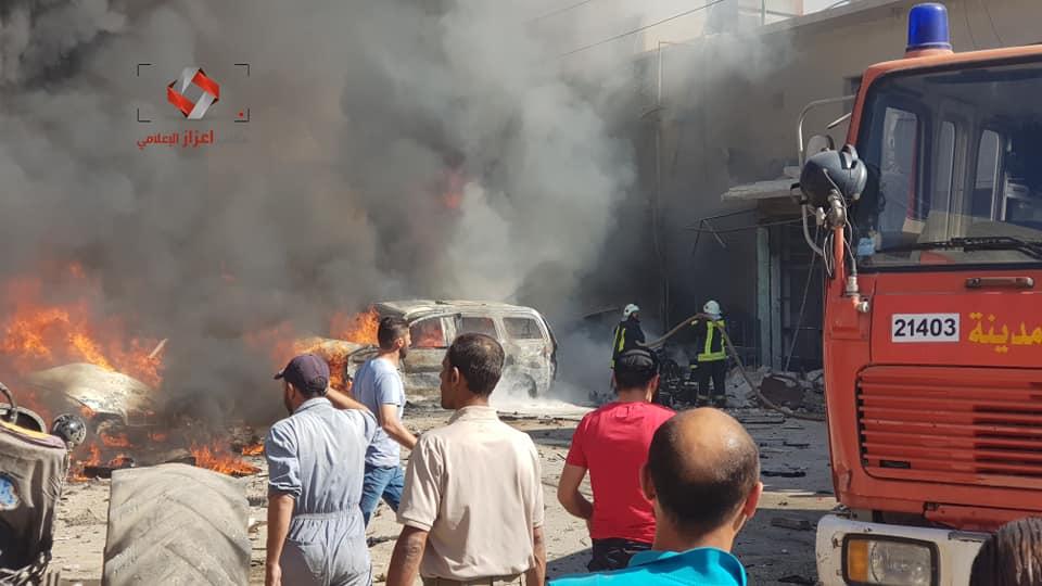 Photo of مفخخة في اعزاز شمال حلب تحصد العشرات