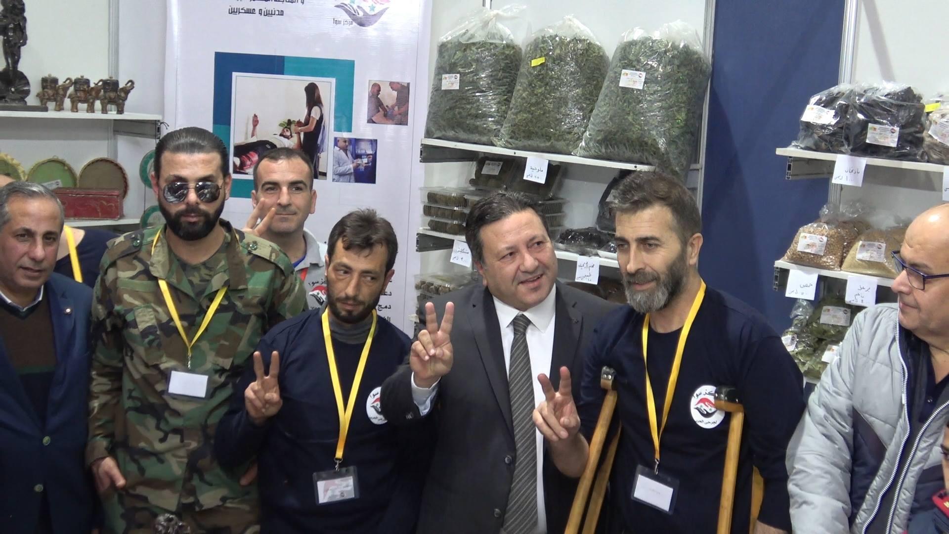 صورة مشاركة جمعية سوا لجرحى الحرب بمهرجان صنع في سورية بدمشق