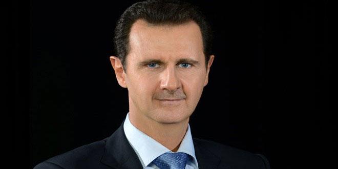 صورة الرئيس بشار الأسد يعزّي أمير الكويت الجديد بوفاة صباح الأحمد الجابر الصباح