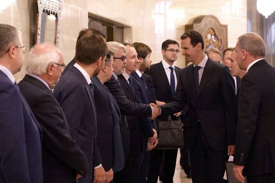 Photo of الرئيس الأسد يستقبل نائب رئيس الحكومة الروسية ويبحثان تعزيز العلاقات