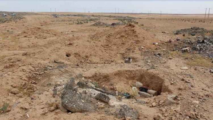 Photo of العثور على مقبرة جماعية لرفاة عسكريين ومدنيين على أطراف تدمر
