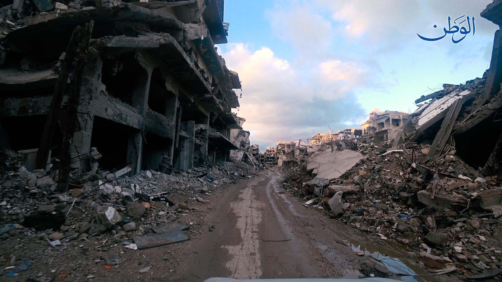 Photo of من شوارع مخيم اليرموك في عام 2019