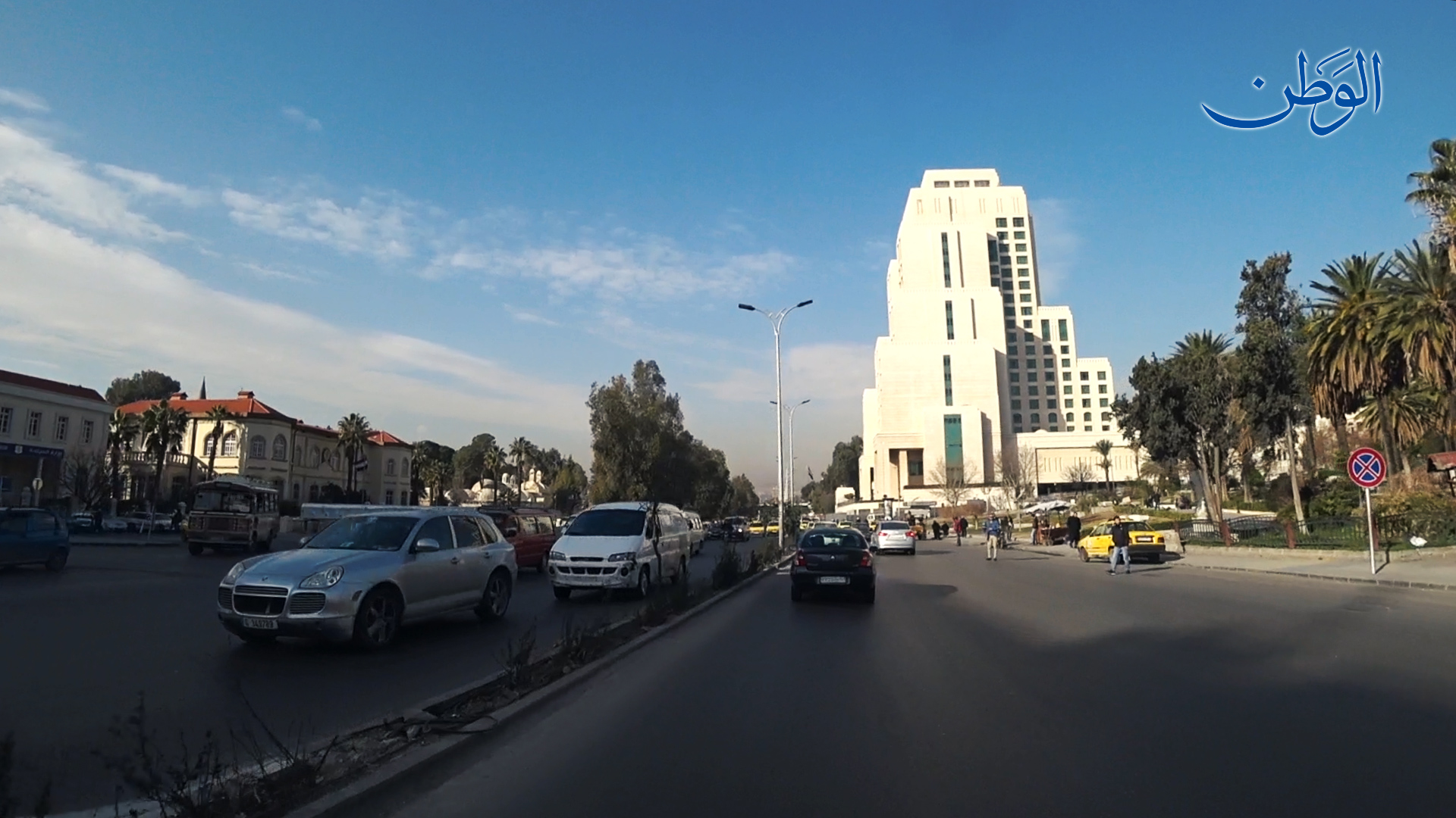 Photo of صباح دمشق بعد التصدي للعدوان الإسرائيلي فجراً || 21-1-2019
