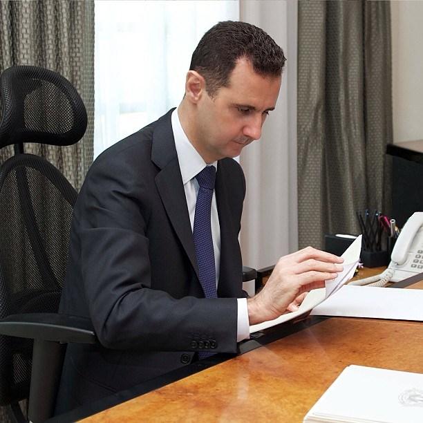صورة الرئيس الأسد يبرق لنظيره العراقي معزيا بفاجعة مستشفى ابن الخطيب