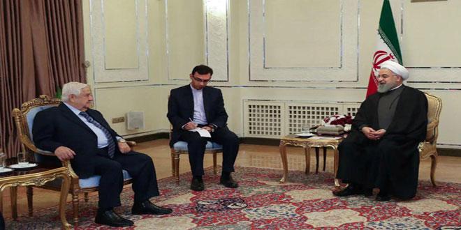 Photo of روحاني لـ المعلم: نتطلع إلى تعزيز وتوثيق العلاقات بين سورية وإيران