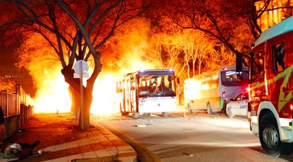 صورة انفجار يسفر عن 5 جرحى في ثكنة عسكرية بأنقرة