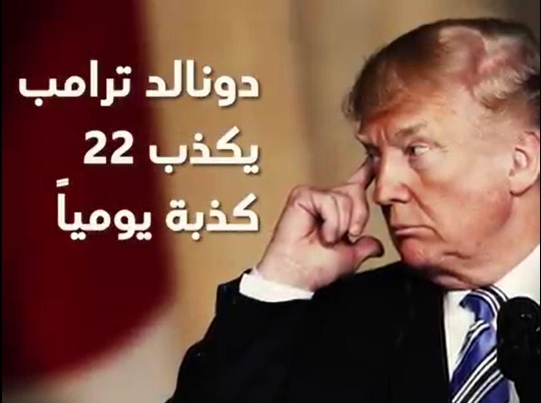 Photo of ترامب يكذب وسطياً 22 مرة يومياً ..!