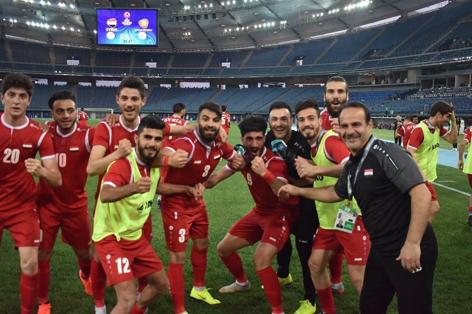 """صورة الحكيم يصنع """"بعبعاً"""" آسيوياً.. الأولمبي السوري يقصي الكويت بعد قرغيزستان"""