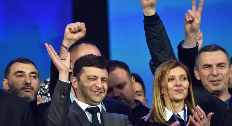 صورة ممثل كوميدي.. رئيس أوكرانيا الجديد