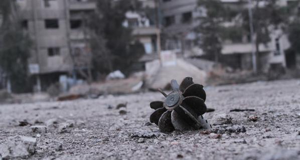 صورة إصابات في حلب وأضرار السقيلبية وجب رملة.. الإرهابيون يجددون إطلاق القذائف الصاروخية