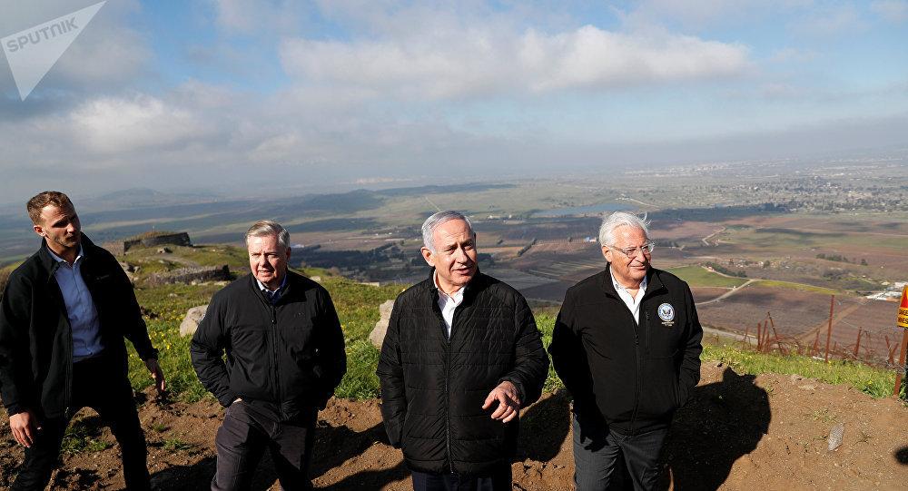 """صورة """"إسرائيل"""" تعقد جلستها الحكومية في الجولان المحتل للمصادقة على هضبة تحمل أسم ترامب"""