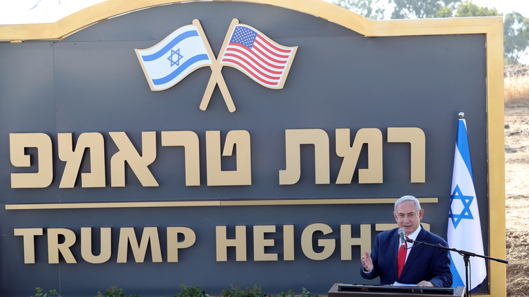 "Photo of نتنياهو يفتتح ""مستوطنة ترامب"" الفارغة في الجولان السوري المحتل"