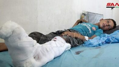 "Photo of إصابة طفلين شقيقين نتيجة انفجار لغم من مخلفات إرهابيي "" داعش "" بريف دير الزور"
