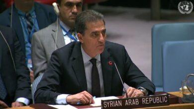 Photo of وفد سورية في مجلس الأمن: دمشق ملتزمة بإيجاد حل سياسي مستدام للأزمة