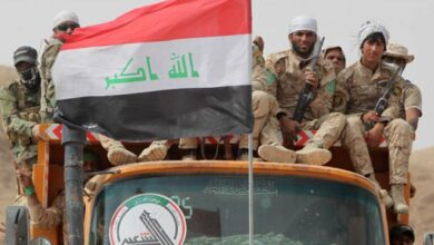 """صورة """"الطيران المجهول"""" يواصل قصف مواقع الحشد الشعبي في العراق"""