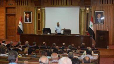 Photo of وزارة الإدارة المحلية تدرب رؤساء البلديات بحماة حول قانون رقم /50/ للعاملين في الدولة