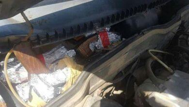 Photo of ضبط سيارة محملة بالأسلحة قرب جسر القصير كانت متجهة إلى ريف إدلب
