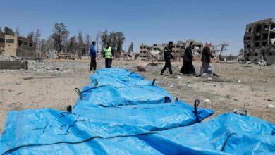 Photo of اكتشاف مقبرة جماعية جديدة في مدينة الرقة