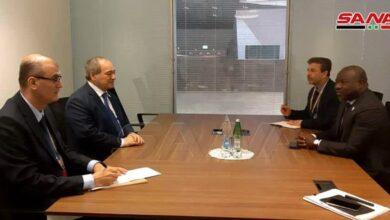 صورة المقداد يلتقي وزيري خارجية موريتانيا ونيكاراغوا ونظيره الروسي