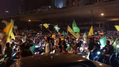 """Photo of """"حزب الله"""" و""""أمل"""" ينفيان علاقتهما بمواكب الدراجات وسط بيروت"""