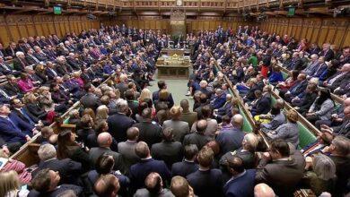 """صورة جلسة تصويت """"حاسمة"""" للبرلمان البريطاني اليوم"""