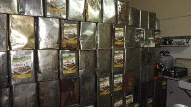 صورة ضبط 20 طناً من مواد غذائية منتهية الصلاحية بحماة