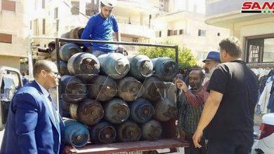 Photo of تسيير سيارات جوالة لبيع اسطوانات الغاز المنزلي بعدد من أحياء دمشق