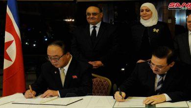 Photo of ثلاث وثائق تعاون بين سورية وكوريا الديمقراطية