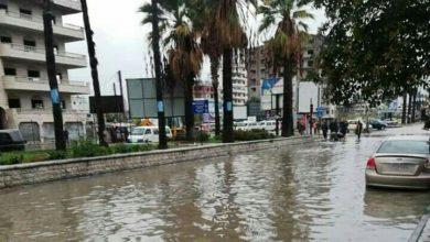 "Photo of ""بحيرات مائية"" في الشوارع نتيجة الأمطار في اللاذقية"