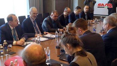 Photo of وفد الجمهورية العربية السورية إلى محادثات أستانا يعقد لقاء مع الوفد الروسي