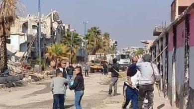 Photo of البدء بترحيل الأنقاض و الردميات من مدينة الحجر الأسود