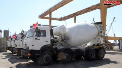 صورة استيراد 144 آلية هندسية من روسيا بالليرة السورية