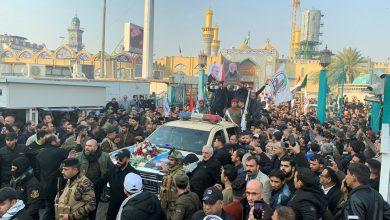 صورة العراق يشيع القائدين الشهيدين ابومهدي المهندس وقاسم سليماني