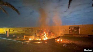 صورة المقاومة العراقية تحدد نقطة انطلاق الطائرة التي اغتالت القادة