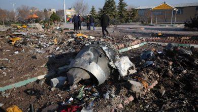 صورة تحطم طائرة أوكرانية قرب العاصمة الإيرانية