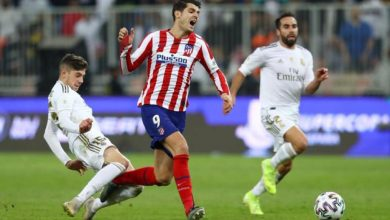 Photo of بالطرد.. فالفيردي يقود ريال مدريد للتويج بلقب السوبر الإسبانية