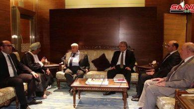 Photo of ممثلا الرئيس الأسد.. المعلم في مسقط لتقديم العزاء بالسلطان قابوس