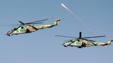 صورة الدفاع السورية تكشف تفاصيل سقوط مروحية عسكرية في إدلب