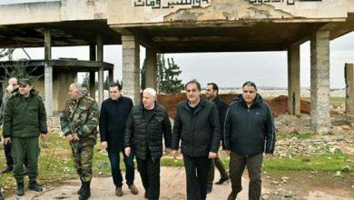 """Photo of جذبة يتفقد مصانع """"الزربة"""" ومحطة كهربائها جنوب حلب"""