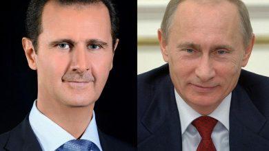 صورة اتصال هاتفي بين الرئيسين الأسد وبوتين حول تطورات الأوضاع في إدلب