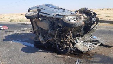 صورة وفاة شخص وإصابة ٦ آخرين بينهم 4 أطفال في حادث مروري بريف حمص الشرقي