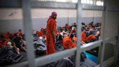 صورة إضراب ثان لمسلحي داعش في سجون «قسد» في غضون شهر