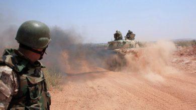 صورة إرهابيون يعتدون على نقاط عسكرية شرق سلمية والجيش يدميهم