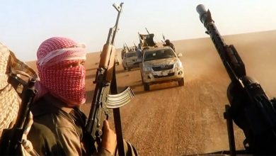 """صورة فلول """"داعش"""" ترتكب مجزرة في ريف الرقة وتسرق قطيعا من الأغنام"""