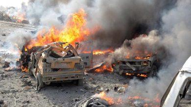 صورة مقتل إرهابيين من ميليشيا «فيلق الشام» بانفجار سيارة في إدلب