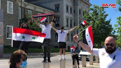 Photo of وقفة احتجاجية للجالية السورية ومتضامنين أميركيين في بنسلفانيا تنديداً بـ«قانون قيصر»