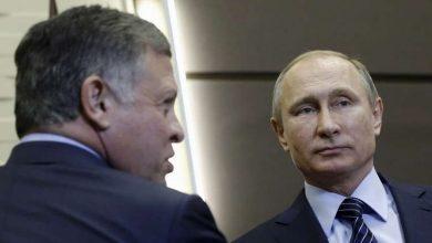 صورة بوتين وعبد الله الثاني يتبادلان الآراء حول الأوضاع في سورية