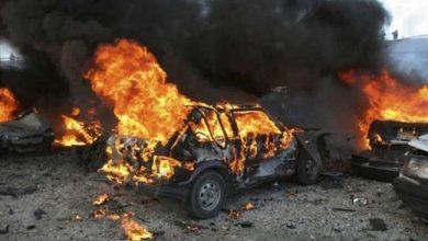 Photo of انفجار سيارة مفخخة بناحية جنديرس في منطقة عفرين بريف حلب الشمالي