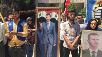 Photo of وقفة وطنية في القامشلي تطالب بطرد الاحتلال وتحرق العلم الأميركي
