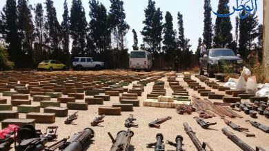 Photo of ضبط كميات كبيرة من الأسلحة والذخائر في إحدى محطات الوقود بحمص